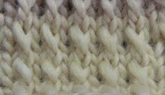 Twice-Turned Stitch.  Lovely pattern.  I hear it calling blanket.