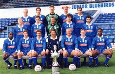 Cardiff City FC Team Photo Early 90s (Wales online)