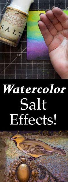 Watercolor Salt Effect Heather Tracy
