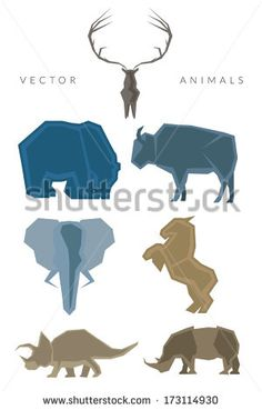 Animals Vector Logo Set - stock vector