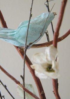 Easy Paper bird diy:  homework: creative inspiration for home and life: Inkling: paper bird centerpiece
