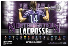 2014 Northwestern Lacrosse Poster | Sports Marketing Creative