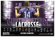2014 Northwestern Lacrosse Poster | Sports Marketing Creative                                                                               More