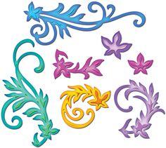 Spellbinders Shapeabilities Dies - Floral Flourishes