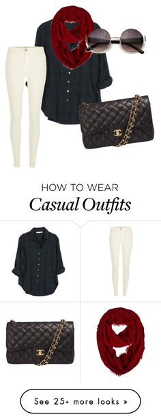 """""""casual"""" by hannahloeschorn on Polyvore featuring moda, Xirena, River Island, Chanel, women's clothing, women's fashion, women, female, woman y misses"""