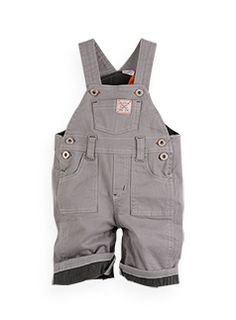 lined canvas dungaree    style number: W2BB20010  size: newborn to 12-18mths  $39.99 now $29.99