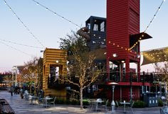 Designed to revive downtown Las Vegas, Container Park is a 50,000-square-foot outdoor shopping and entertainment venue, composed of an arrangement of repurposed shipping containers.