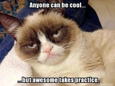 Anyone can be cool but awesome takes practice.