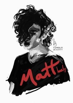 """""""you've got a beautiful face but nothing to say""""Matt Healy Painting"""