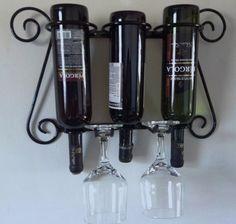 suporte para vinhos  taças em ferro adega bar garrafas