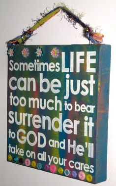 hand paint, scriptur board, gift, faith, hands, embellish scriptur, bible verses, handmad stuff, kid