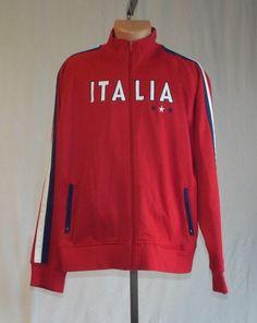 Urban Pipeline Mens XL ITALIA Sports Zipper Jacket Red White Blue #UrbanUpPipeline #ZipperJacket