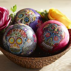 Dia de Los Muertos Decorative Sphere Set | Pier 1 Imports