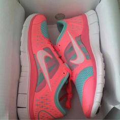 Neon Pink and White Nike Shirt for Women | nike coral athletic nikerunning neon nike free run coral pink and a ...