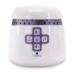 We use this Graco Sweet Slumber Sound Machine ALL the time. Great white noise and different music options. Use rechargeable batteries!