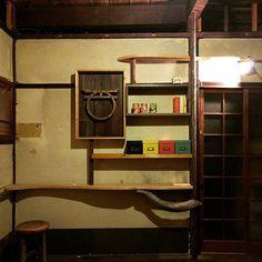 created a #wooden #shelf w/ shimiz aka guitar hero from soft (softribe.jp) that a kyoto based space jam band.   #artinlife #ar7zwork #installation  #henchiku #renovation #workinprogress