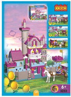 COGO 3253 Prinses Buitenhuis (bouwstenen) € 22,00 Cogo heeft ook aan de meisjes gedacht met de princesesen serie in mooie lichte roze en paarse kleuren. Diverse items in deze serie koop ze allemaal met vele bouwstenen en poppentjes en paarden. Cogo maakt speelgoed weer betaalbaar. http://www.worldoftoys.nl/speelgoed/jongens/cogo-3253-prinses-buitenhuis-meisjes-speelgoed