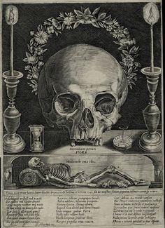 Memento Mori (c. 1673 / Etching) - Attributed to Gerhart Altzenbach Macabre Art, Danse Macabre, Memento Mori Art, Dance Of Death, Esoteric Art, Arte Obscura, Occult Art, Art Graphique, Vanitas
