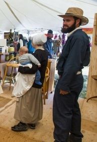 I have been told that in a few communities in Maine, Michigan, and Ontario, some men wear trimmed moustaches with their beards. Amish Family, Amish Culture, Lancaster County, Amish Country, Historical Costume, Love Photos, The Man, Men Wear, Moustaches