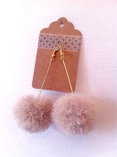 Beautiful Mohair pom pom earrings