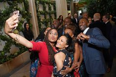Mahershala Ali, Thandie Newton, Sterling K. Brown, Brian Tyree Henry & Tracee Ellis Ross from Golden Globes 2017 Party Pics  The stars gave their best smile for a group selfie at the BAFTA Tea Party at the Four Seasons Hotel.