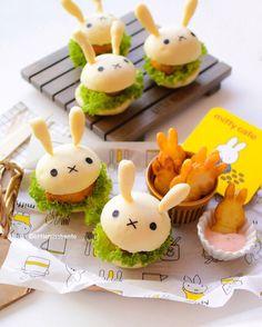 Miffy mini sliders by Little Miss Bento・Shirley シャリー (@littlemissbento)