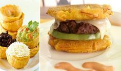 This plantain hamburger will make you never want to eat bread again. 16 Delicious Plantain Recipes That Will Make Your Life Better Plantain Recipes, Banana Recipes, Plantain Bread, Puerto Rico Food, Colombian Food, Good Food, Yummy Food, Cuban Recipes, Dinner Recipes