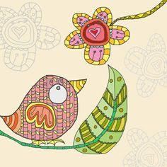 Adorable birdie art! #nursery