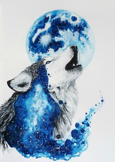 "bestof-society6: "" ART PRINTS BY JONNA LAMMINAHO • Wolf love • Howl • Polar bear • Howling wolf Also available as canvas prints, T-shirts, tapestries, stationery cards, laptop skins, wall clocks,..."