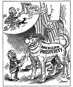 """Age of Prosperity,"" America in the 1920s, a collection of commentary and cartoons with discussion questions for the classroom."