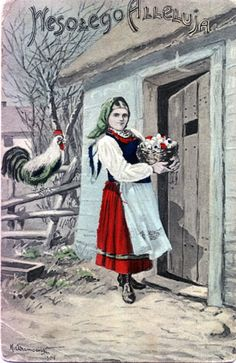 wielkanoc w starej fotografii - Szukaj w Google Polish Easter, Vintage Easter, My Heritage, Vintage Postcards, Illustration, Painting, Folklore, Roots, Ireland