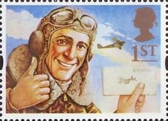 Stamp: Biggles (United Kingdom of Great Britain & Northern Ireland) (Greetings Stamps 1994 - Messages) Mi:GB 1658 Royal Mail Stamps, Going Postal, Kingdom Of Great Britain, Penny Black, Space Crafts, Stamp Collecting, Northern Ireland, Postage Stamps, Book Worms