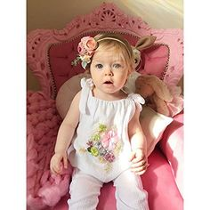 0d522da34 Mikrdoo 2 Pcs Toddler Girl Summer Clothes Set White Lace T-Shirt Tops with  Handmade Flowers + Bottom Shorts Outfits