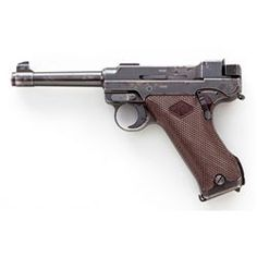 3rd Variation Lahti L-35 Semi-Automatic Pistol, #6682, 9mm, 4.7'' barrel, blue finish, brown checkered plastic grips with VKT logo, cut for shoulder stock, with rectangular Loaded Chamber indicator; later upper receiver marked ''VKT/L-35'' with yoke locking piece and protrusion and slide lightning cuts eliminated; with etched lLoading that magazine is a pain! Get your Magazine speedloader today! http://www.amazon.com/shops/raeind