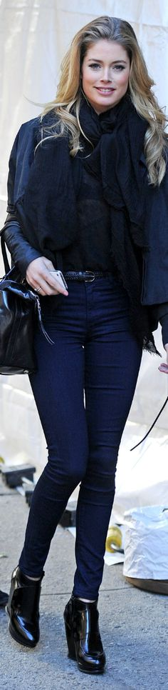 love the jeans... Doutzen Kroes street style