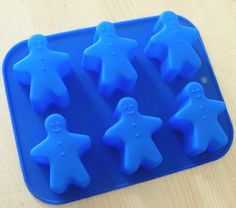 6Snowman Flexible Silicone Cake Mold Soap Mould by happymoulds, $4.99