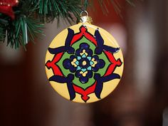 Yellow Cobalt Blue & Red Talavera Style Ceramic by TheTikiQueen