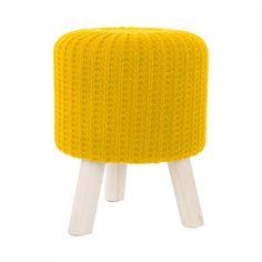 Moderné taburetky žltej farby
