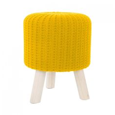 Moderní taburetky žluté barvy