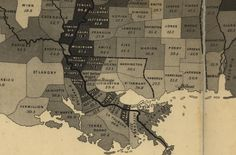 The U.S. Coast Survey map calculated the number of slaves in each county in the United States in 1860