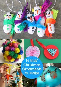 Kids Christmas Crafts: 14 Fun Ornaments to Make - diycandy.com