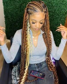 Quick Braided Hairstyles, Box Braids Hairstyles For Black Women, Weave Ponytail Hairstyles, Braids Hairstyles Pictures, Black Girl Braids, Braids For Black Women, Braids For Black Hair, Baddie Hairstyles, Girl Hairstyles