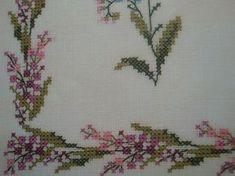 Χειροτεχνήματα: Μπορντούρες με λουλούδια για κέντημα / Cross stitch flower borders