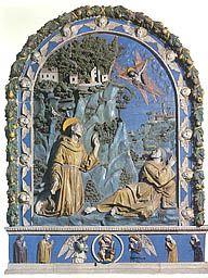 Girolamo Della Robbia (Florence, 1488-1566) ~ San Francesco d'Assisi riceve la stimmate ~ 1500-1510 ~ Chiesa di S. Francesco, Barga