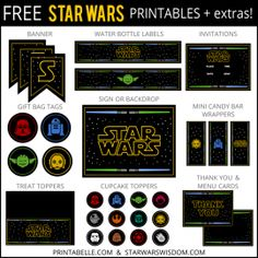 Free Star Wars Printables   extras
