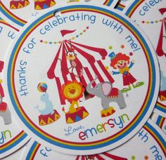 Favor Tags  Day at the Circus  Coordinating Party by ciaobambino, $6.00