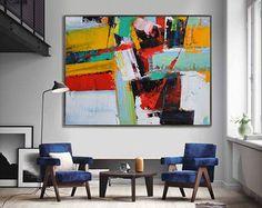 Handmade Large Contemporary Art Canvas Painting par CelineZiangArt