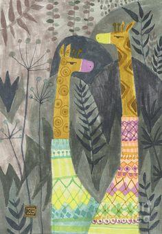 Giraffes in Turtleneck Sweaters / Kate Cosgrove