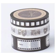 Masking Tape 3 Rouleaux Vintage Camera Brown Chérie M