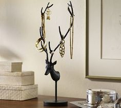 Reindeer Jewelry Stand #potterybarn...would be good as sculpture